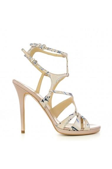 Sandale pentru femei CONDUR by alexandru nude cu imprimeu