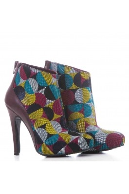 Botine marca CONDUR by alexandru bordo cu multicolor