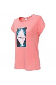 Tricou pentru femei 4f  W H4L19-TSD010 64M łososiowy melanż