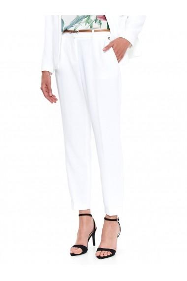 Pantaloni drepti Top Secret TOP-SSP3224BI Alb