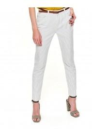 Pantaloni drepti Top Secret TOP-SSP3303BI Alb