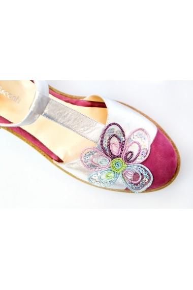 Pantofisandale Thea Visconti 1143 roz-argintii