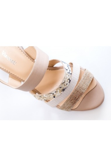 Sandale cu toc Thea Visconti S-313-19-311 Bej