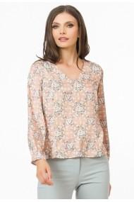 Bluza Sense imprimata Liv crem+roz