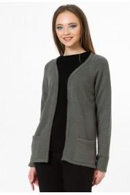 Cardigan Sense tricotat Simplicity antracit