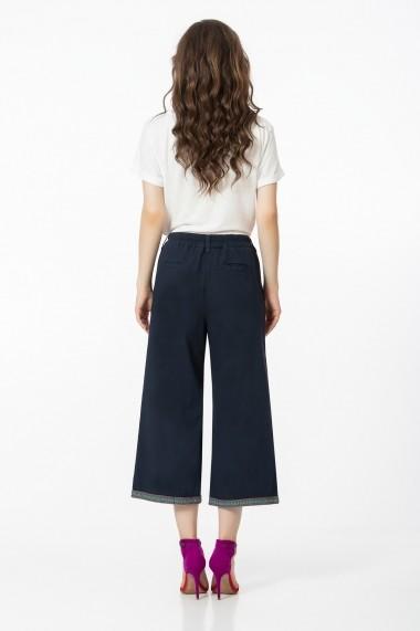 Pantaloni largi Sense Couture Bleumarin