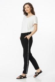 Pantaloni drepti Sense Kelsy negru
