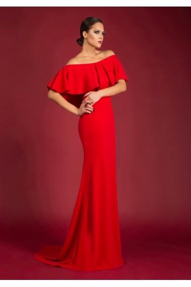 Rochie lunga LOVELOVE Passion to come rosu