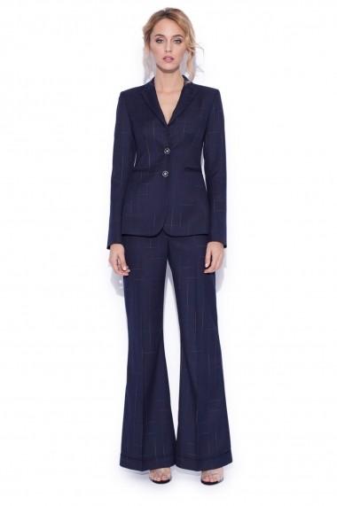 Pantaloni largi NISSA evazati Bleumarin
