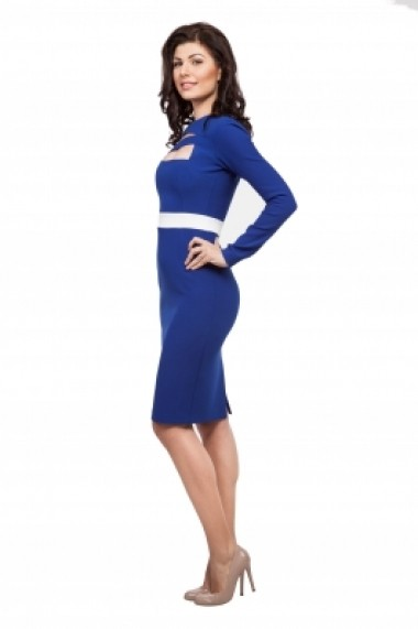 Rochie office Aelya Business Lady Albastra-STK - els