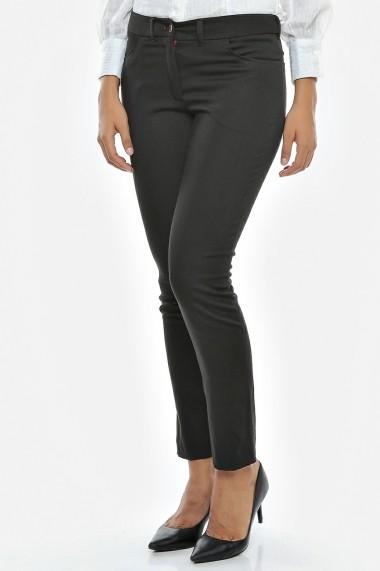 PANTALONI tip jeans Pretty Shadow - Sweet Rose of Mine negru