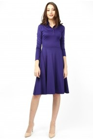 Rochie tip polo din jerse - Violet Chic - Sweet Rose of Mine mov inchis, indigo DUO-SR01VC-01