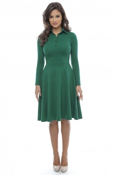 Rochie clos din bumbac Green Polo - Sweet Rose of Mine verde