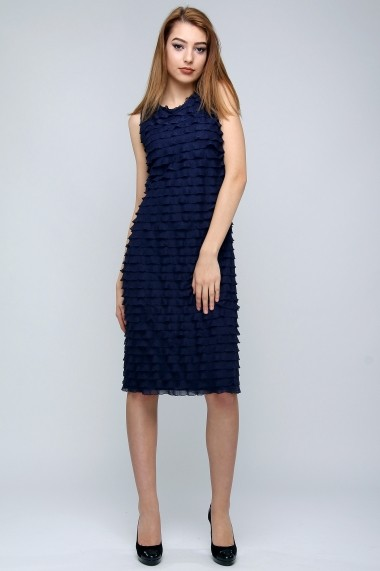 Rochie midi de cocktail Dark Waves - Sweet Rose of Mine bleumarin