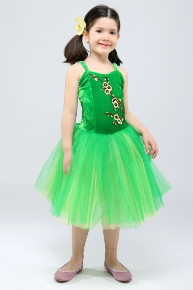 Costum de balet - Garden Elf - Little Rose verde