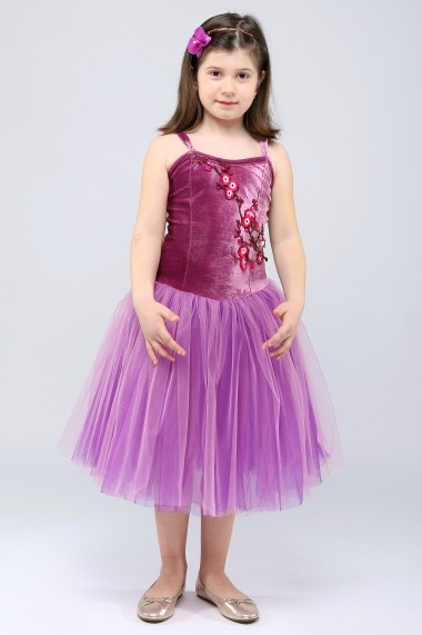 Costum de balet - Purple Sweetheart - Little Rose mov, violet