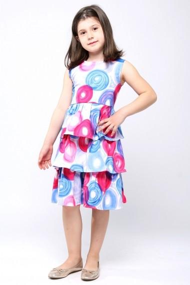 Rochita vesela din bumbac - Bubble Girl - Little Rose multicolor