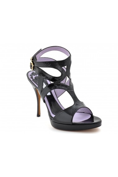 Sandale pentru femei marca Pollini negre cu barete