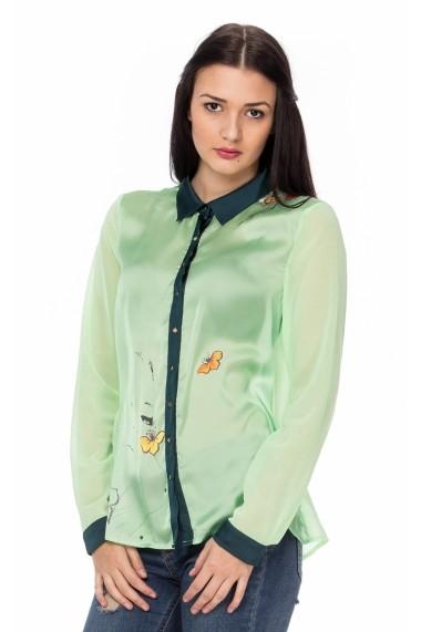 Camasa Lashez imprimeu floral Enise - Verde