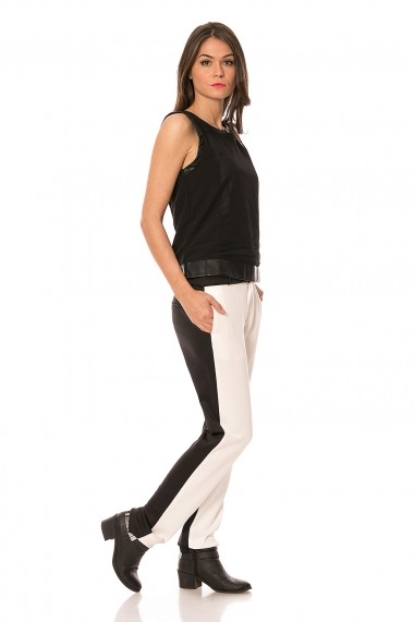 Pantaloni Lashez in doua culori - Alb / Negru