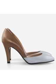 Pantofi din piele naturala cu decupaj asimetric Blue   Spice Dianemarie P1/5 bb