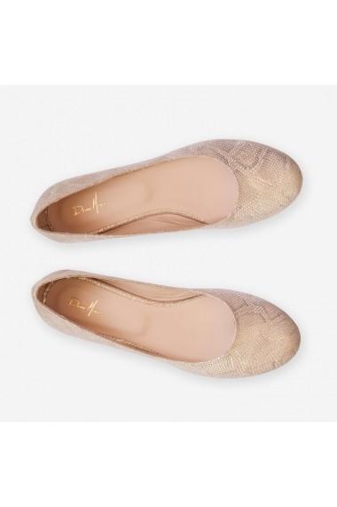 Balerini din piele naturala Goldwyn Dianemarie P61   sauriu