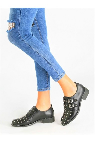 Pantofi Rammi din piele ecologica cu catarame si tinte