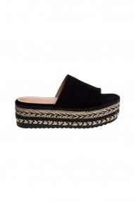 Papuci cu platforma Rammi RMM-a18/002-black Negru