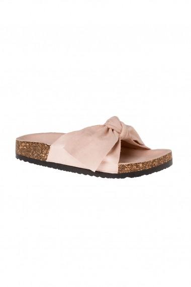 papuci Rammi roz cu funda