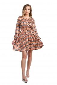 Rochie din satin cu imprimeu Rammi