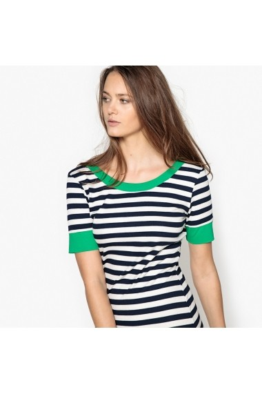 Rochie de zi La Redoute Collections GEL589-navy-ecru_striped Bleumarin