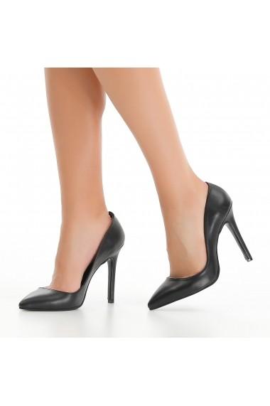 Pantofi cu toc DELISIYIM Samira Negru