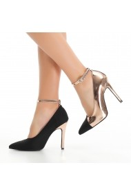 Pantofi cu toc DELISIYIM Lelip Negru