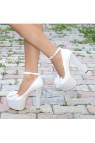 Pantofi cu toc DELISIYIM Ecemis Alb