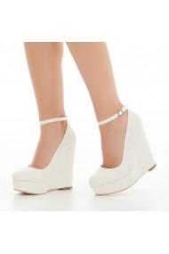 Pantofi cu platforma DELISIYIM Anji Crem
