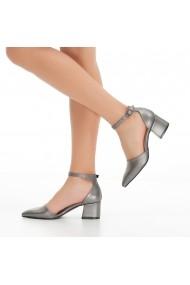 Pantofi cu toc DELISIYIM Anut Argintiu - els