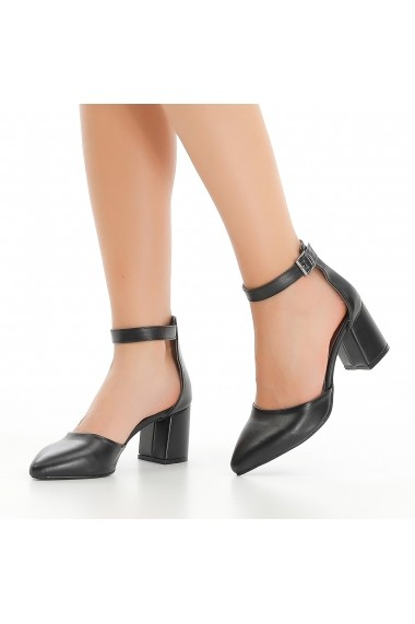 Pantofi cu toc DELISIYIM Ludap Negru