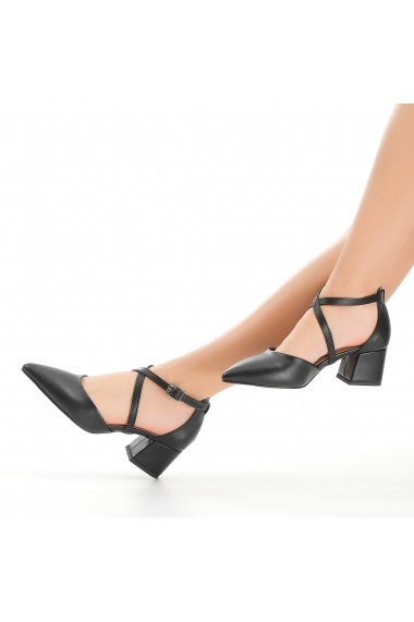Pantofi cu toc DELISIYIM Perin Negru
