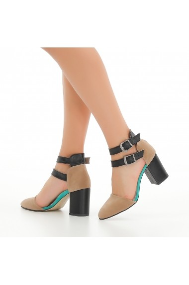 Pantofi cu toc DELISIYIM Mitin Bej