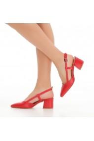 Pantofi cu toc DELISIYIM Gare Rosu