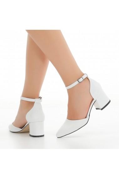 Pantofi cu toc DELISIYIM Elami Alb - els
