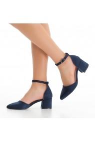 Pantofi cu toc DELISIYIM Elami Bleumarin