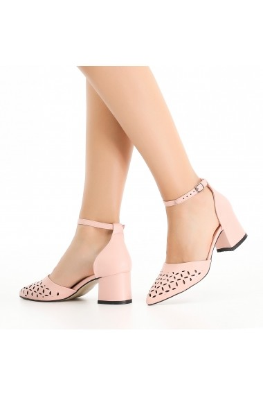 Pantofi cu toc DELISIYIM Gilyo Roz - els