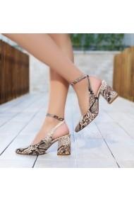 Pantofi cu toc DELISIYIM Pavpe Animal print