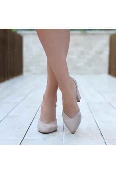 Pantofi cu toc DELISIYIM Orgiy Bej - els