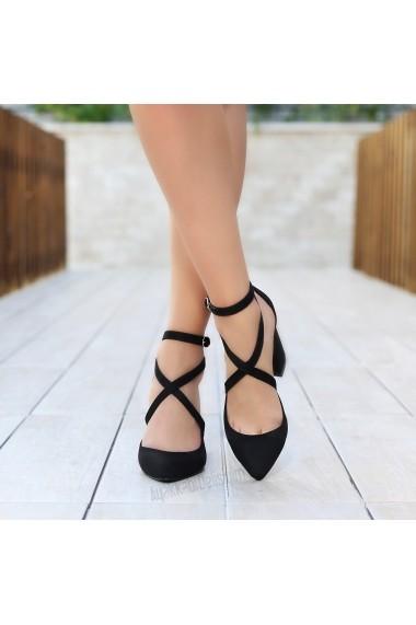 Pantofi cu toc DELISIYIM Katalin Negru - els