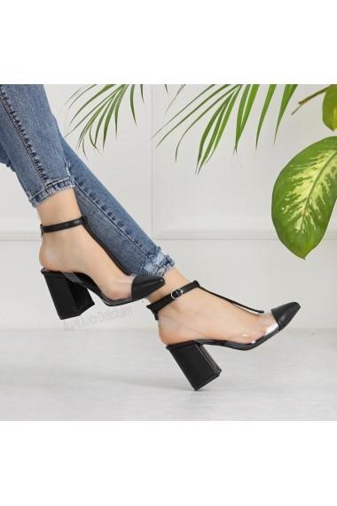 Pantofi cu toc DELISIYIM Loye Negru - els