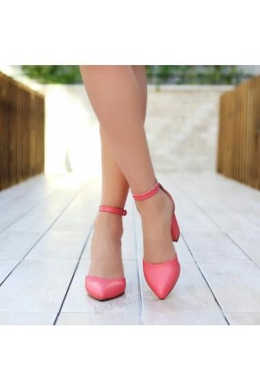 Pantofi cu toc DELISIYIM Hivay Roz - els