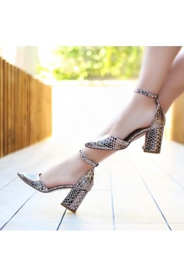 Pantofi cu toc DELISIYIM Hivay Animal print