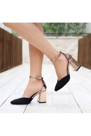 Pantofi cu toc DELISIYIM Melula Negru
